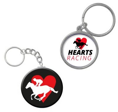Hearts Racing Member Keyring